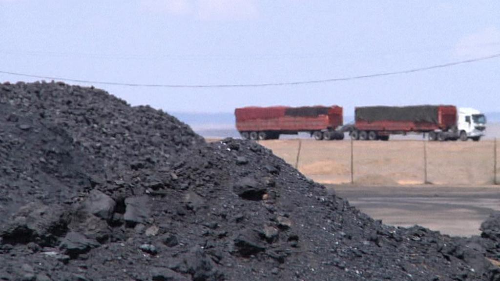 Těžba uhlí v Mongolsku