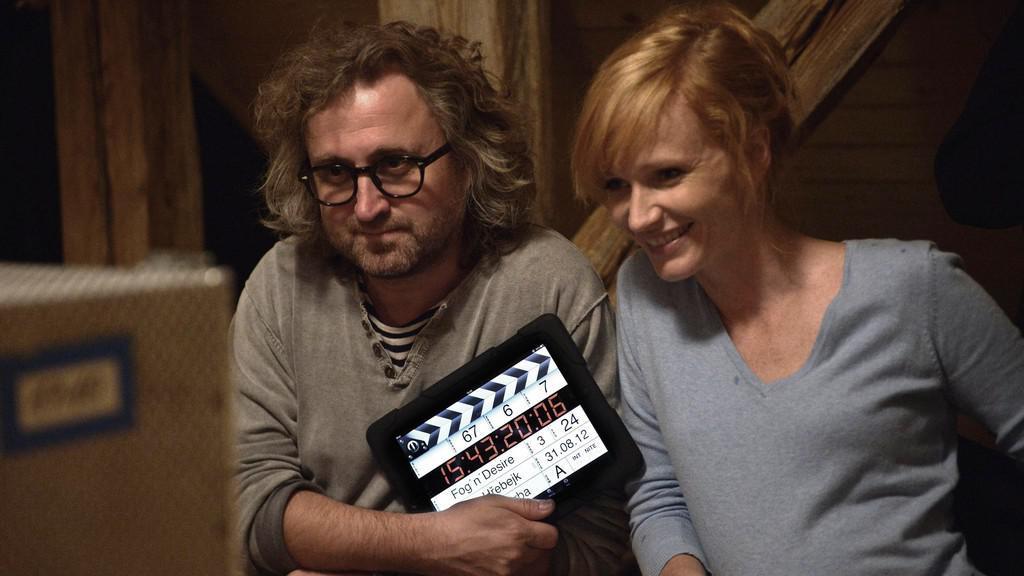 Jan Hřebejk a Aňa Geislerová při natáčení filmu