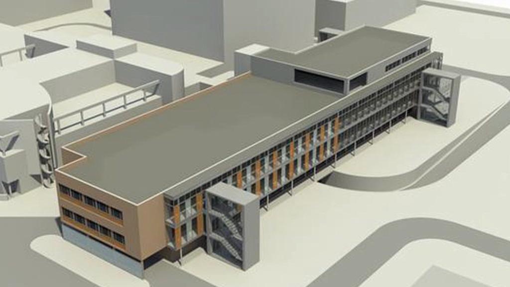 Vizualizace stavby nového pavilonu nemocnice v Jihlavě