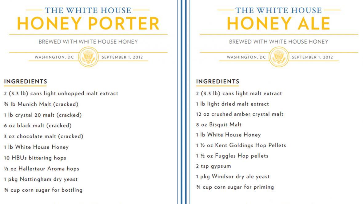 Recepty na piva z Bílého domu