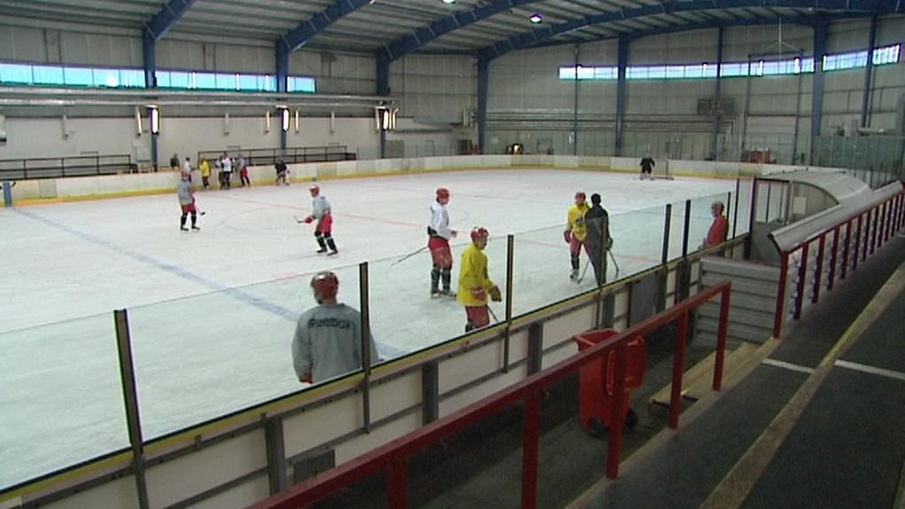 Menší hokejová hala v Hradci Králové