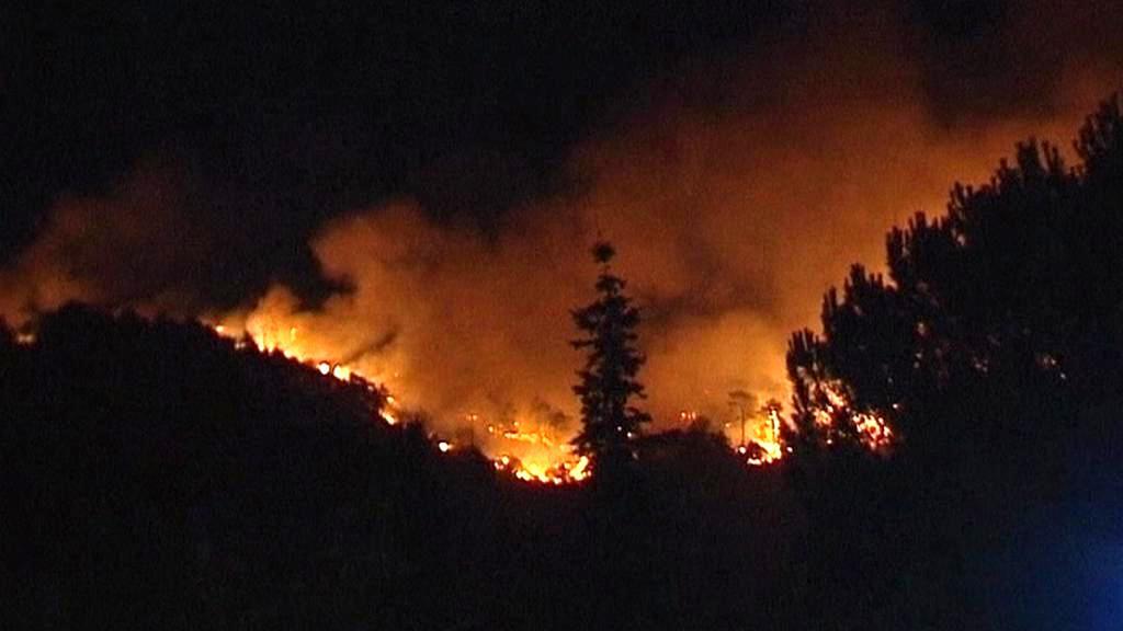 Požár u španělské Marbelly