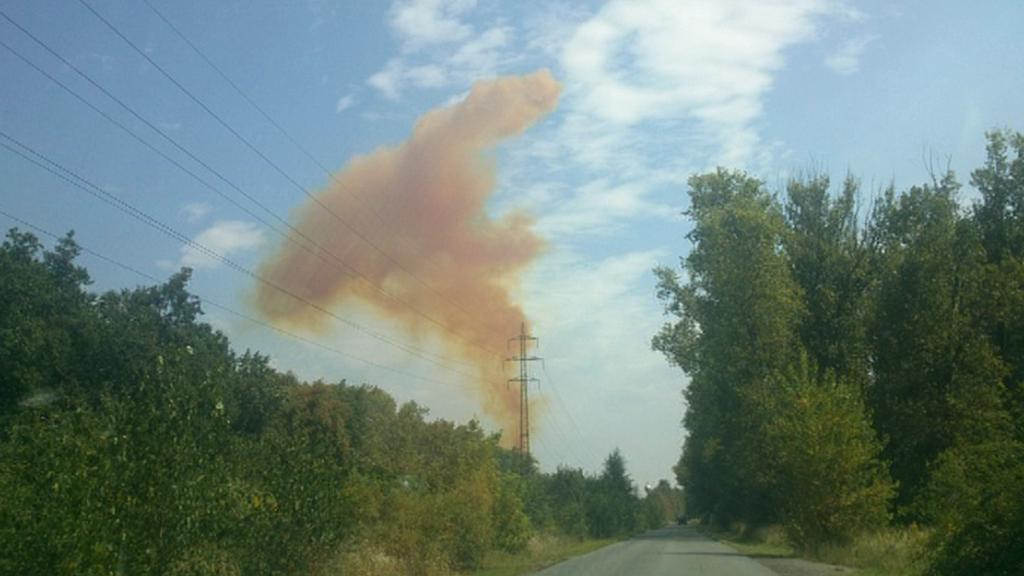 Mrak plynů nad Pardubicemi