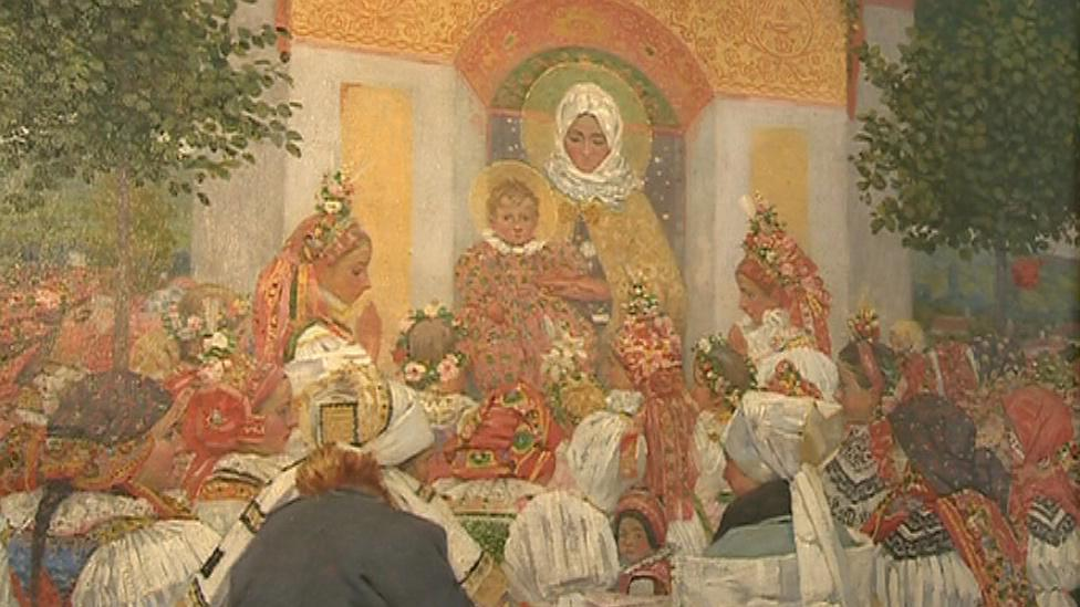 Detail obrazu Joži Uprky