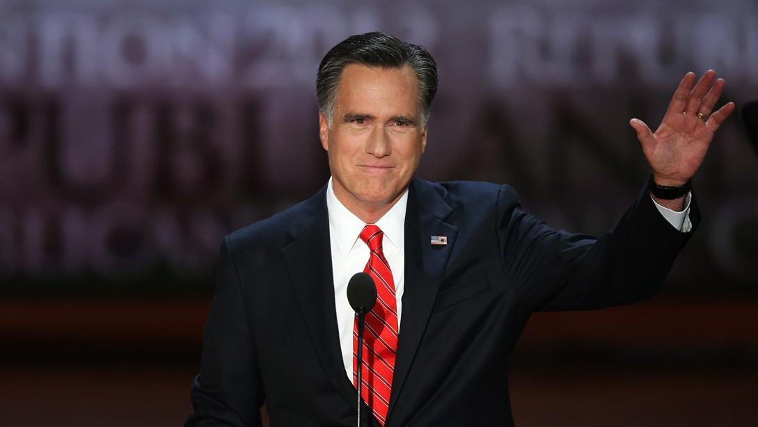 Mitt Romney v poslední den republikánského sjezdu v Tampě