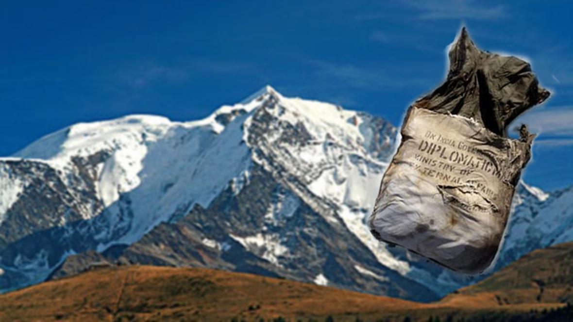 Mont Blanc vydal starou diplomatickou poštu