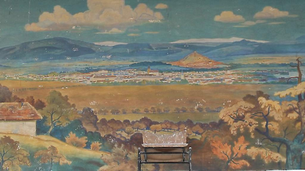 Malba Jindřicha Procházky na jičínském nádraží
