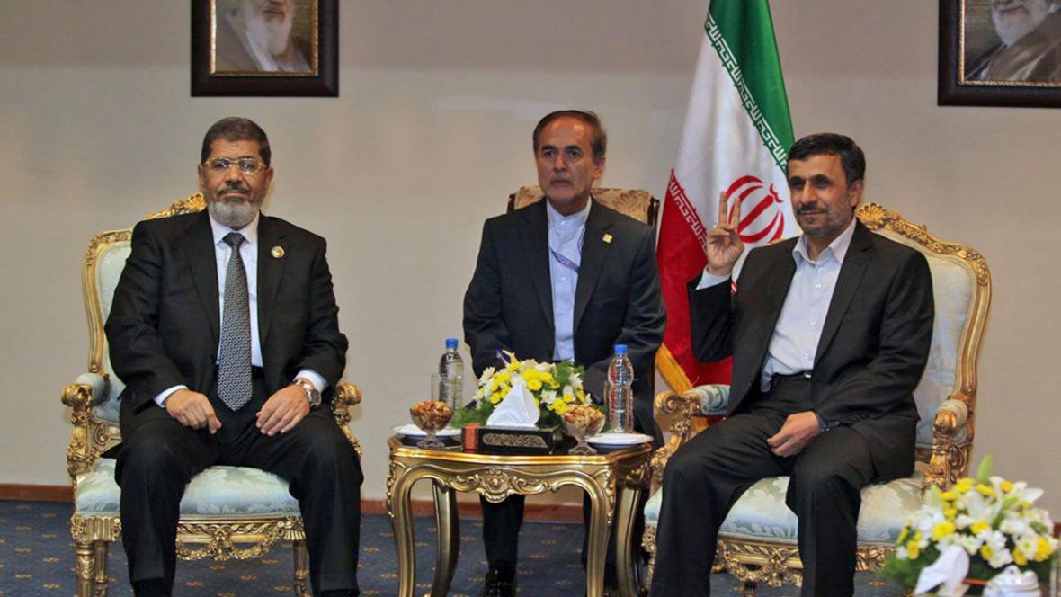 Muhammad Mursí a Mahmúd Ahmadínežád