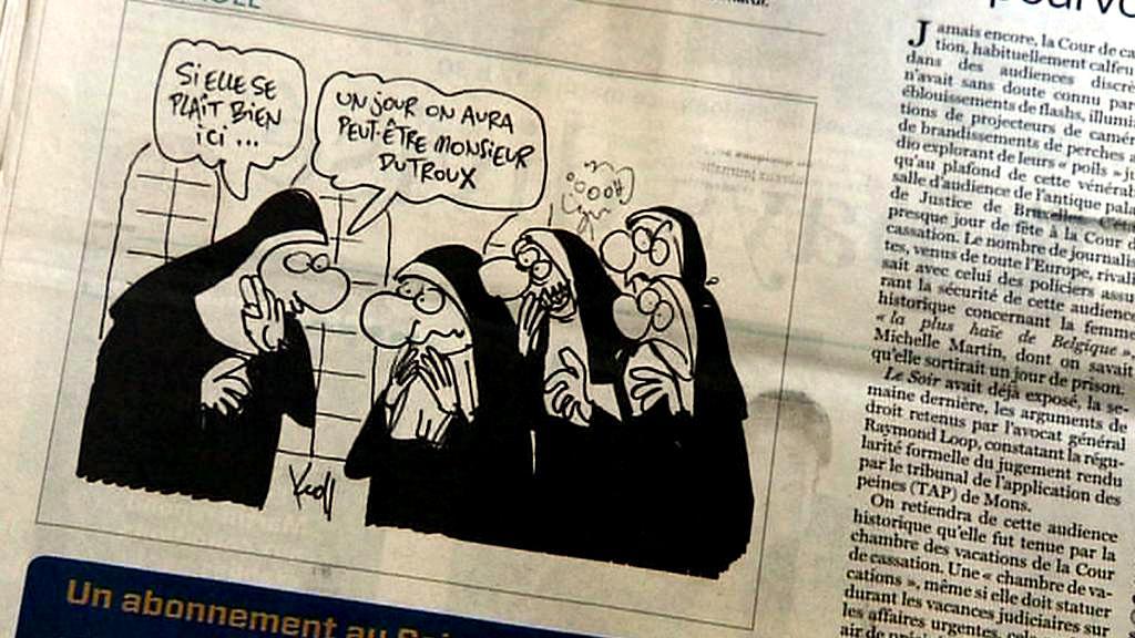 Karikatura v Le Soir