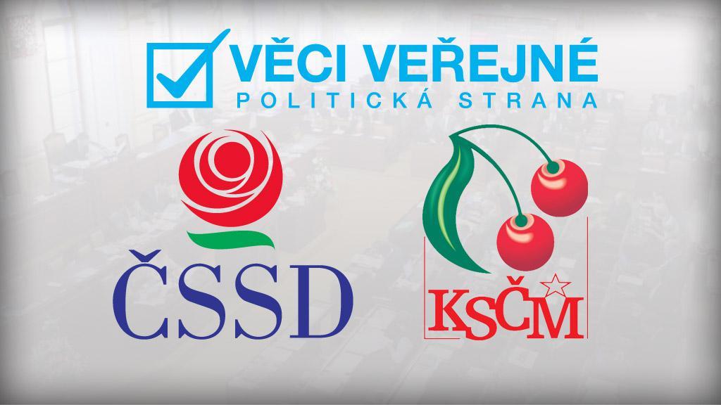 Věci veřejné, ČSSD a KSČM