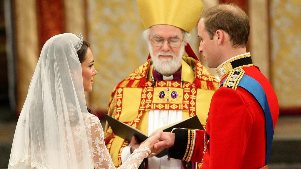 Arcibiskup z Canterbury během královské svatby
