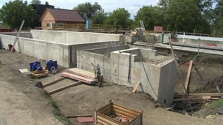 Stavba čistírny odpadních vod