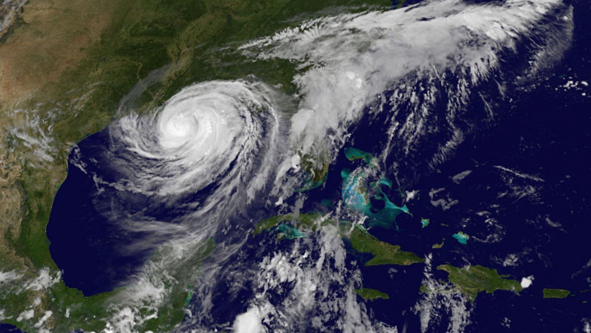 Hurikán Isaac na satelitním snímku