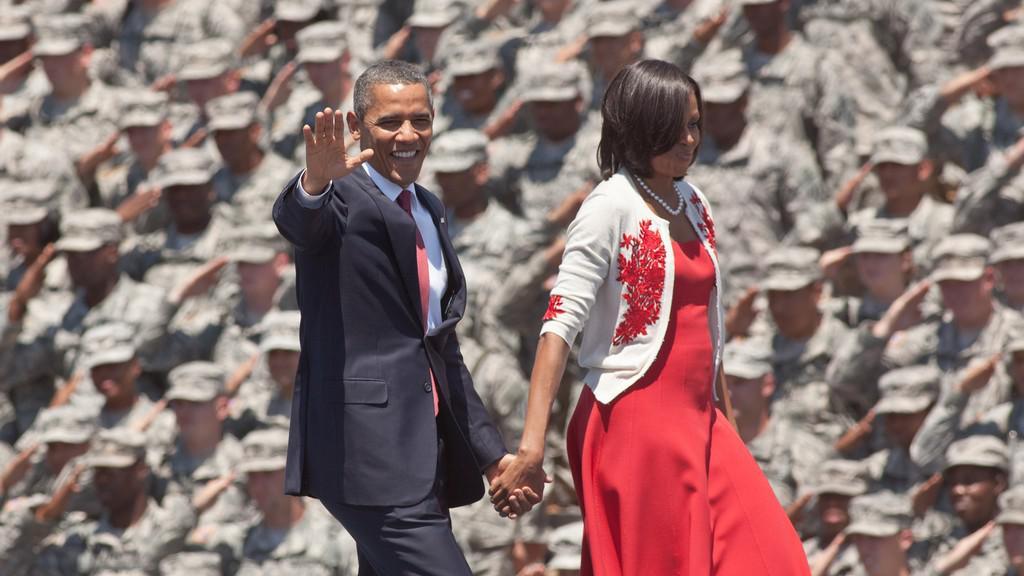 Barack Obama na základně Fort Stewart