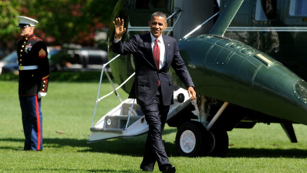 Barack Obama po návratu z Fort Stewart