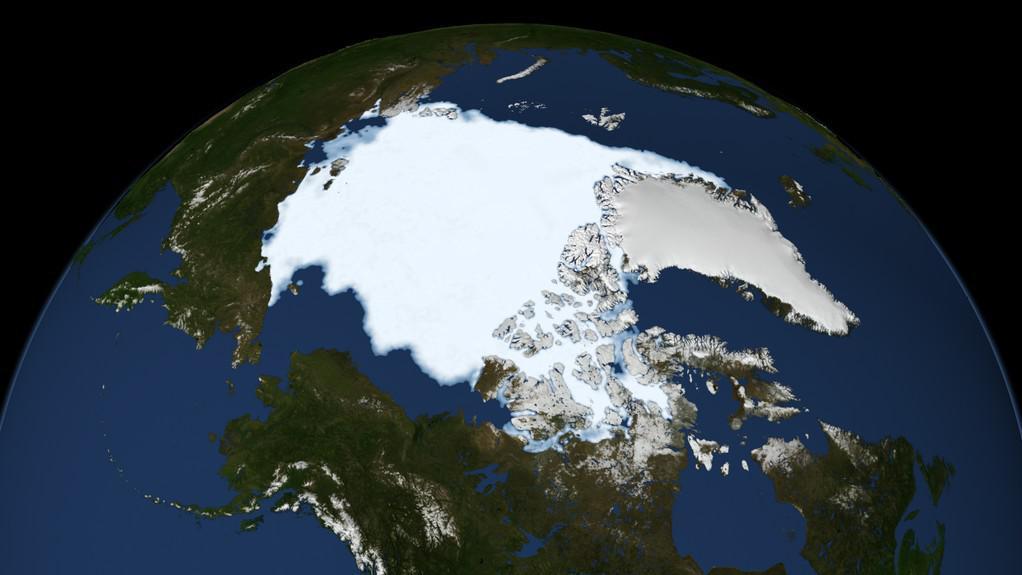 Rozloha arktického ledu v roce 1979