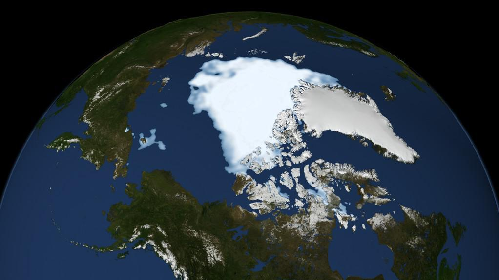 Rozloha arktického ledu v roce 2012