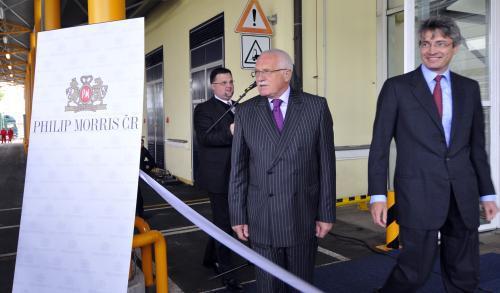 Václav Klaus ve firmě Philip Morris