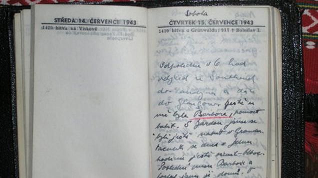 Ukázka z deníku Tomáše Sedláčka
