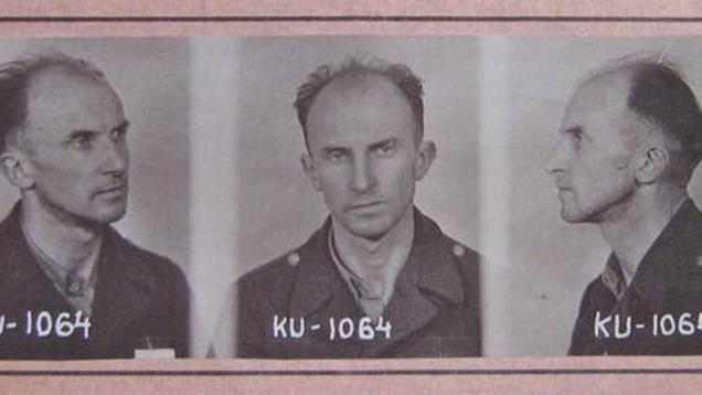 Tomáš Sedláček - vězeňská fotografie z roku 1952