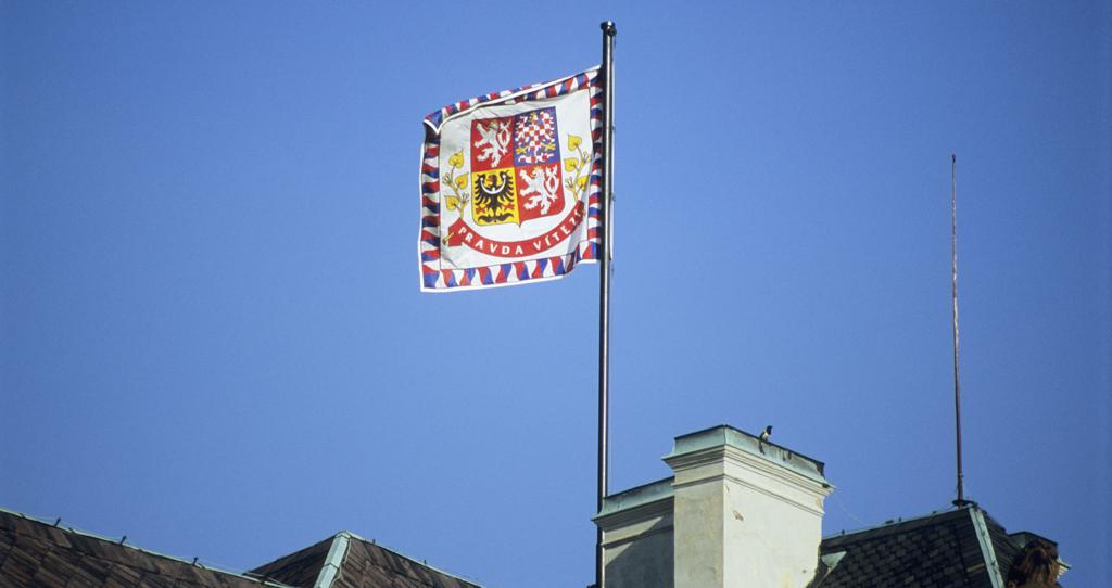 Pražský hrad - prezidentská standarta
