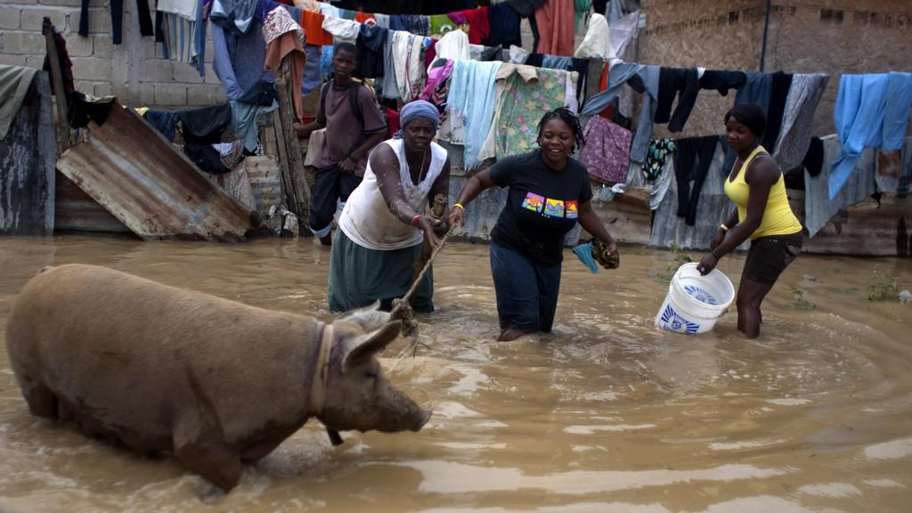 Bouře Isaac zasáhla Haiti