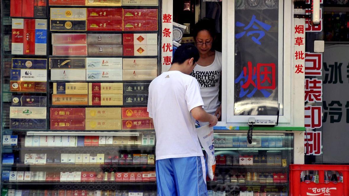 Prodej tabáku v Číně