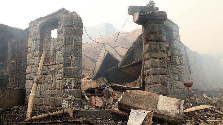 Požár na Petrově boudě