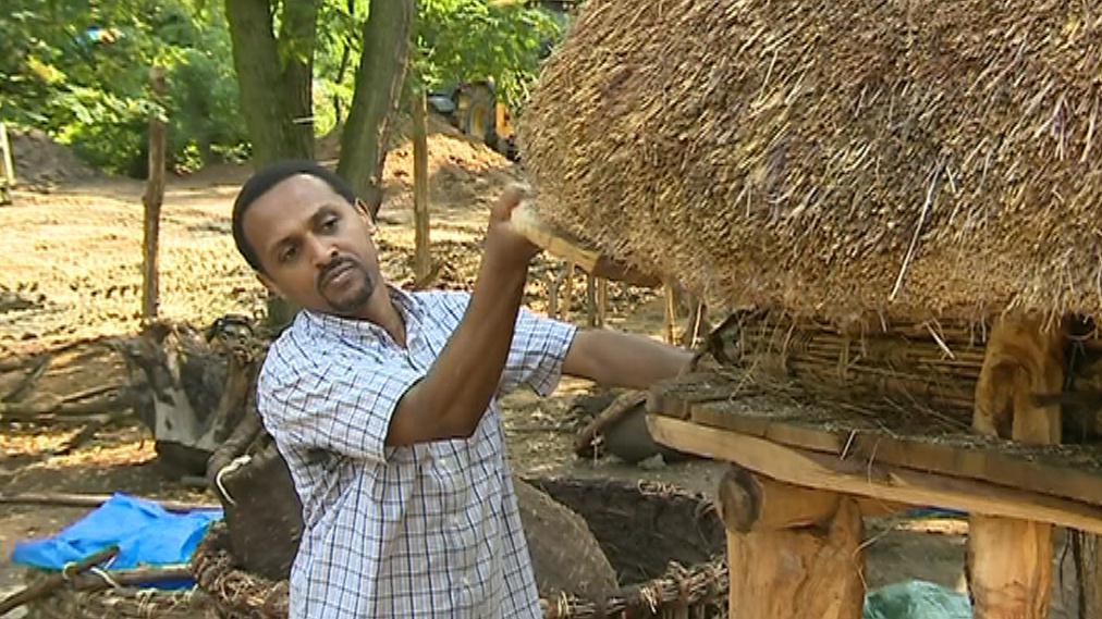 Na práce dohlíží Solomon Yimer Kifle, rodilý Etiopan