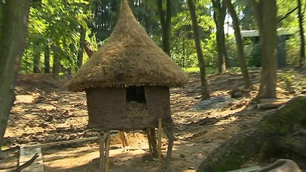 Expozice připomíná vesnici domorodého kmene Konso