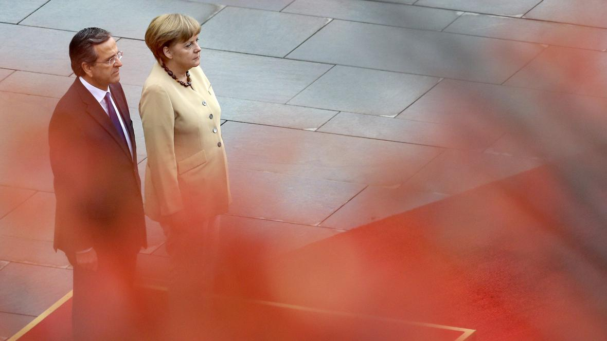 Angela Merkelová a Antonis Samaras