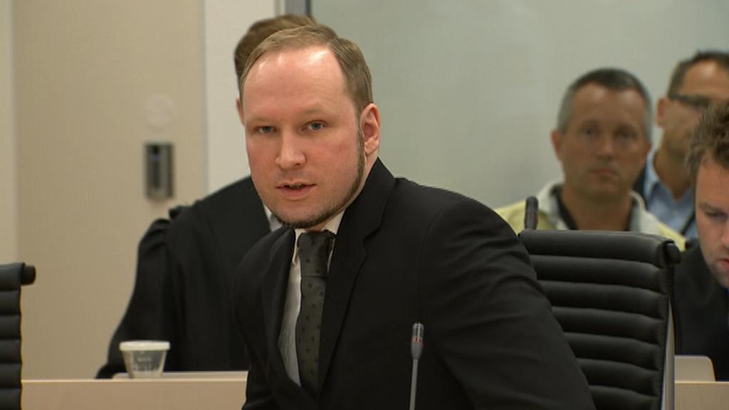 Anders Breivik při vynesení rozsudku