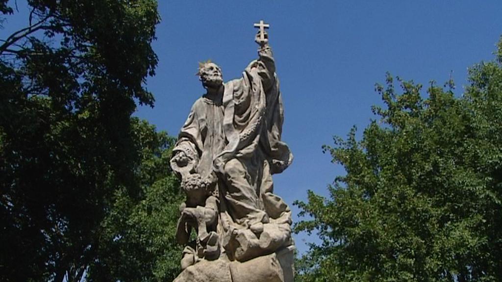 Socha sv. Františka Xaverského u Kuksu