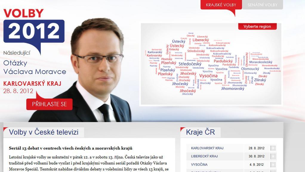Internetový volební speciál ČT24