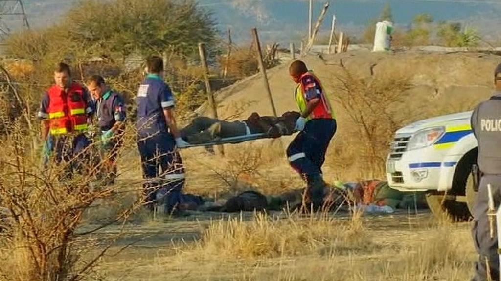 Oběť policejního zásahu proti stávkujícím horníkům v JAR