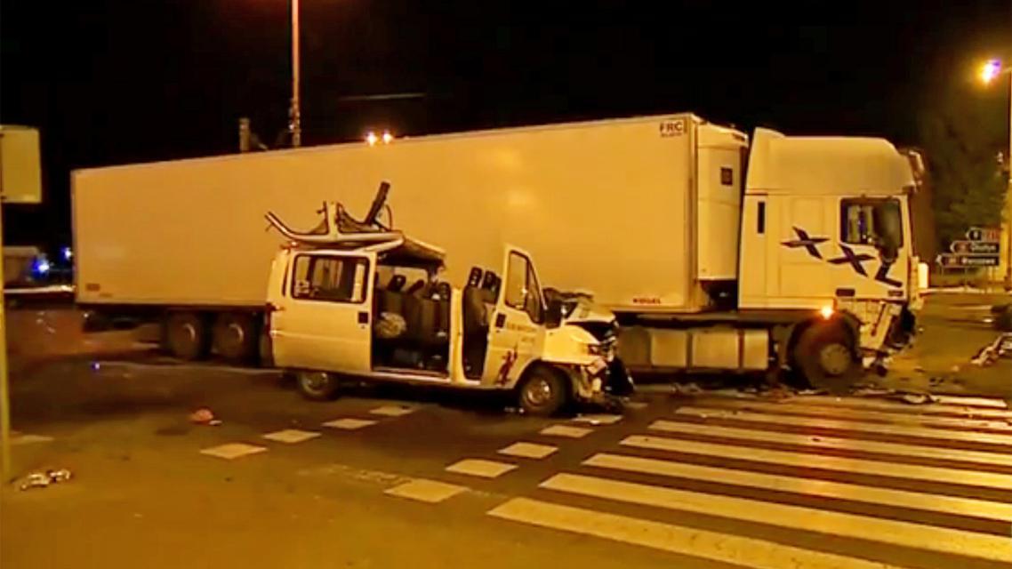 Nehoda česého minibusu v Polsku