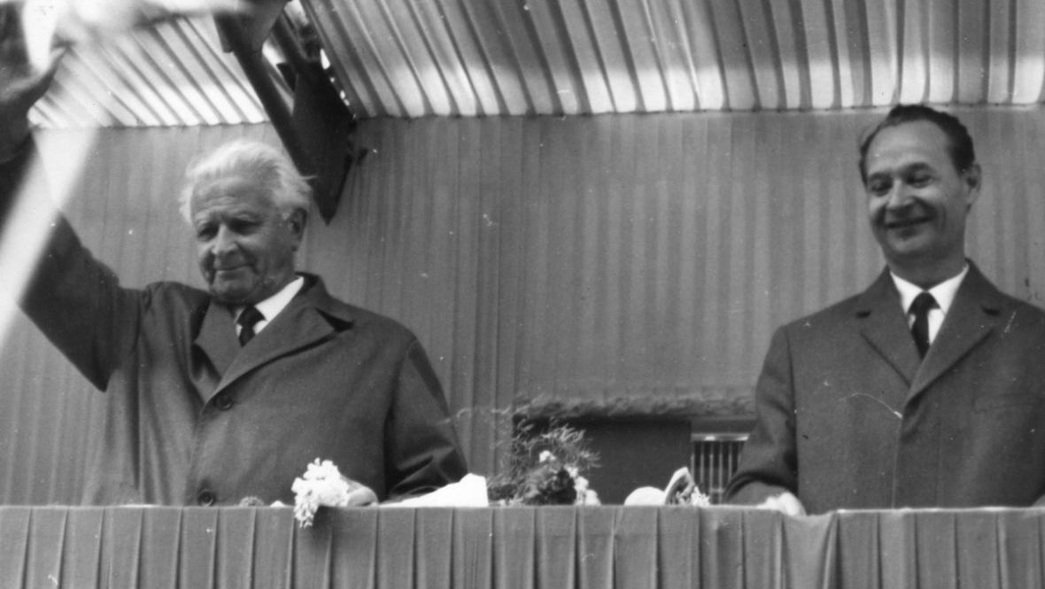 Ludvík Svoboda a Alexander Dubček