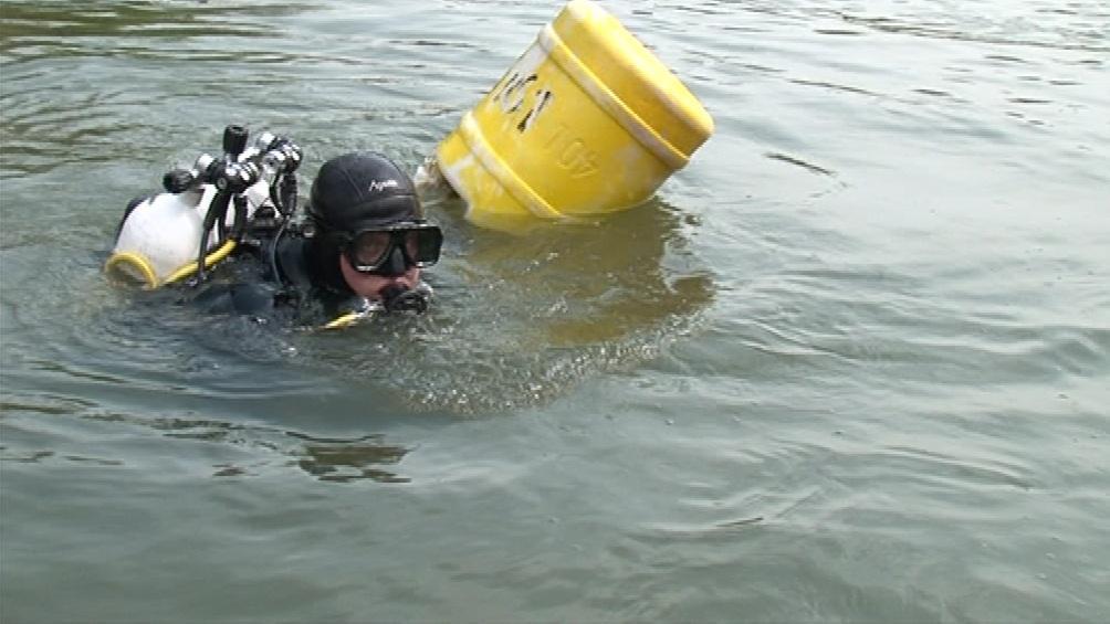 Potápěči cvičili v Dyji