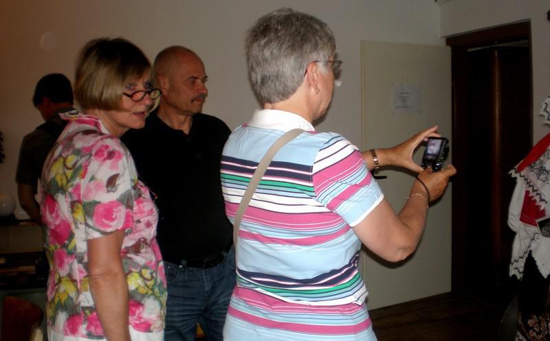 Návštěva cizinců v koštickém muzeu