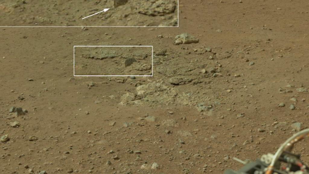 Záběry ze sondy Curiosty