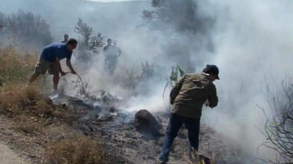 Požár na ostrově Chios