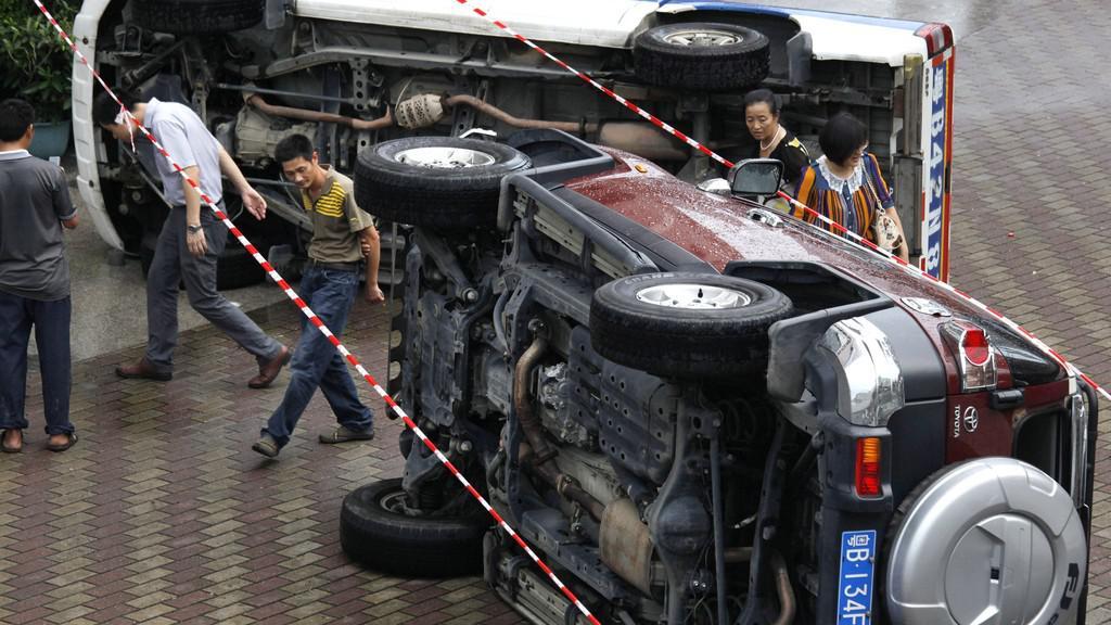 Čínský protest proti japonskému vylodění