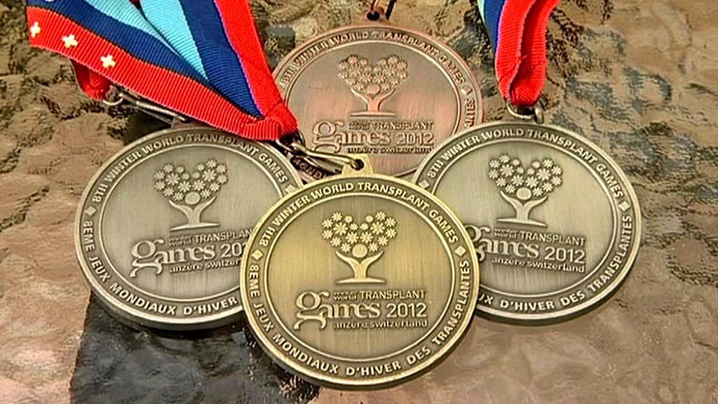Medaile z her pro transplantované sportovce
