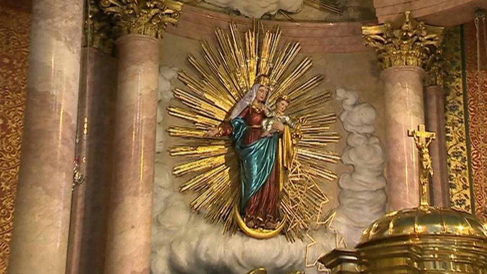 Panna Maria v hostýnské bazilice