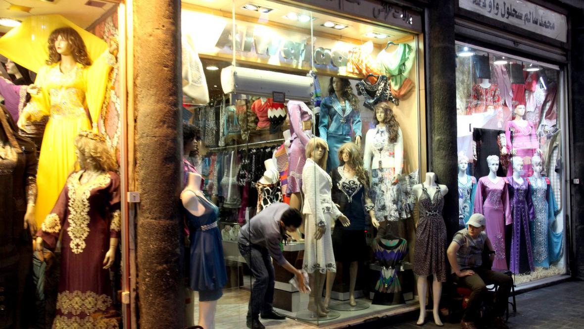 Obchody v centru Damašku