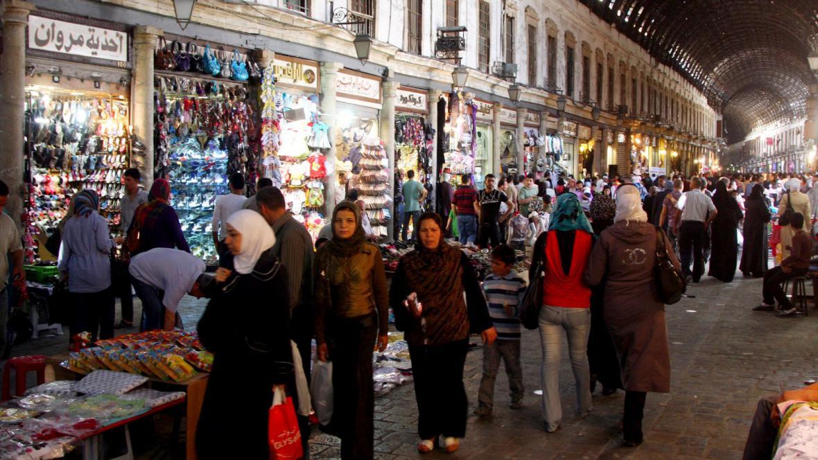 Ulice v centru Damašku