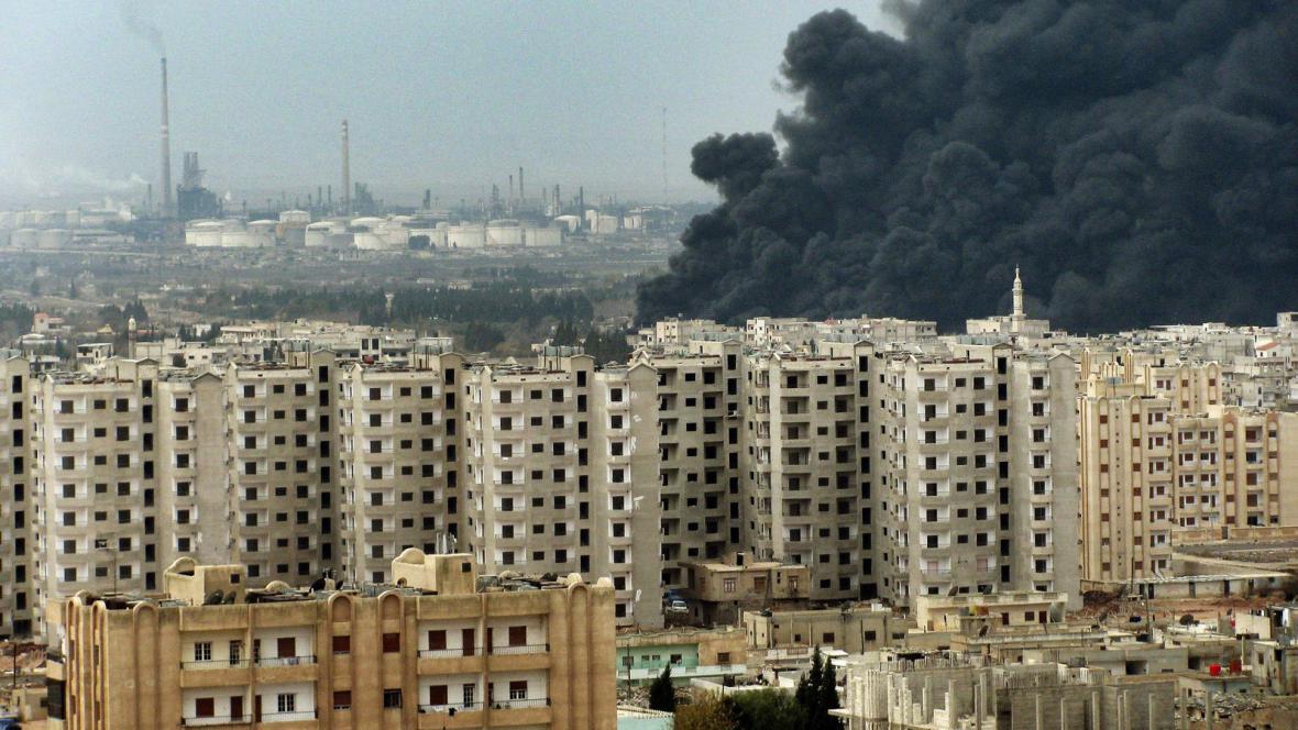 Útok na ropovod v Homsu