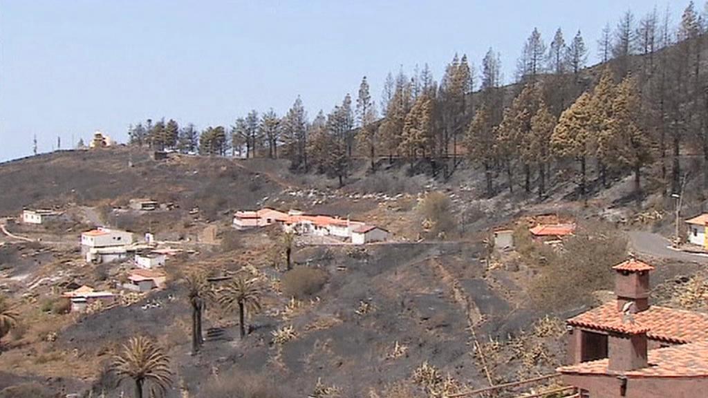 Následky požáru na La Gomeře