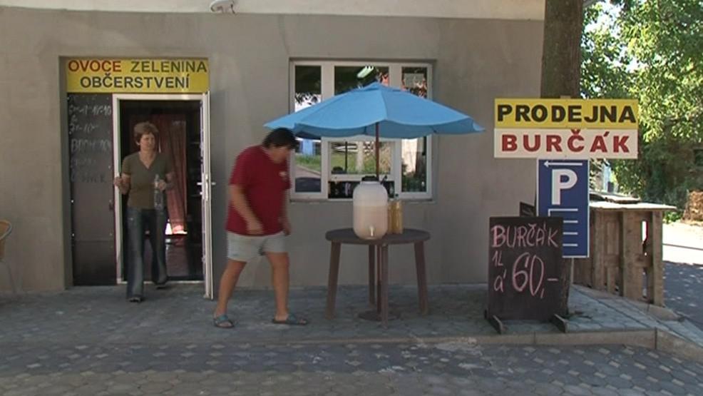 Burčák se dá koupit ve vinotékách i u silnic