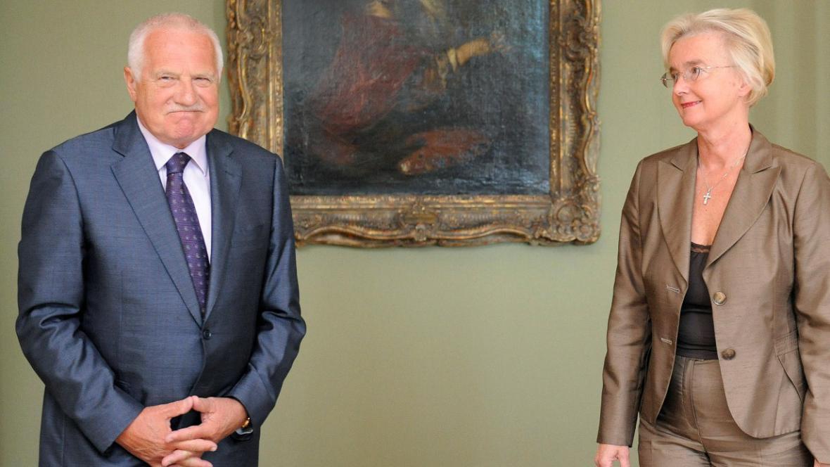 Václav Klaus s Ivou Brožovou